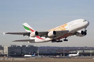 A6-EEA Airbus A380 Emirates Munich airport EDDM 17.02-19   by rjonsen
