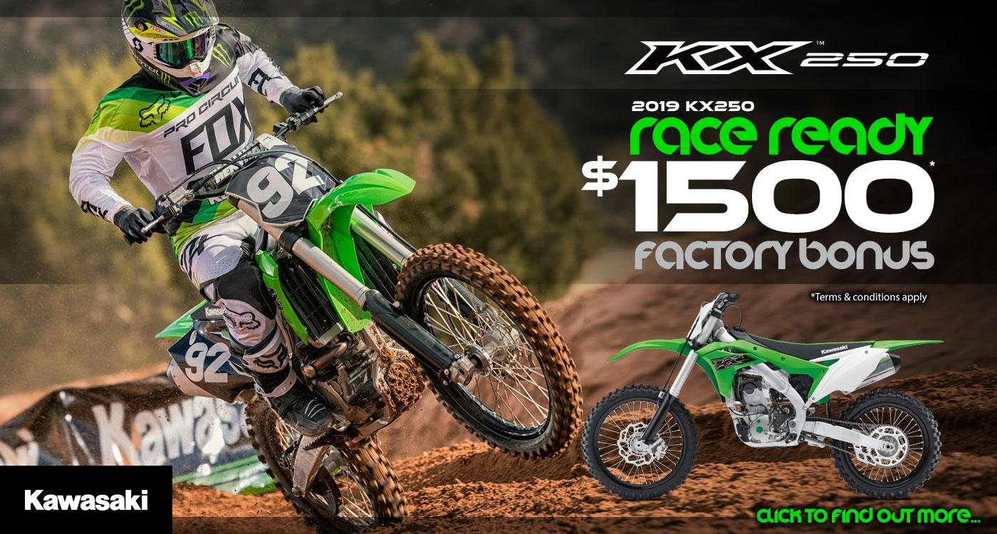 2019 KX250 Race Ready Factory Bonus