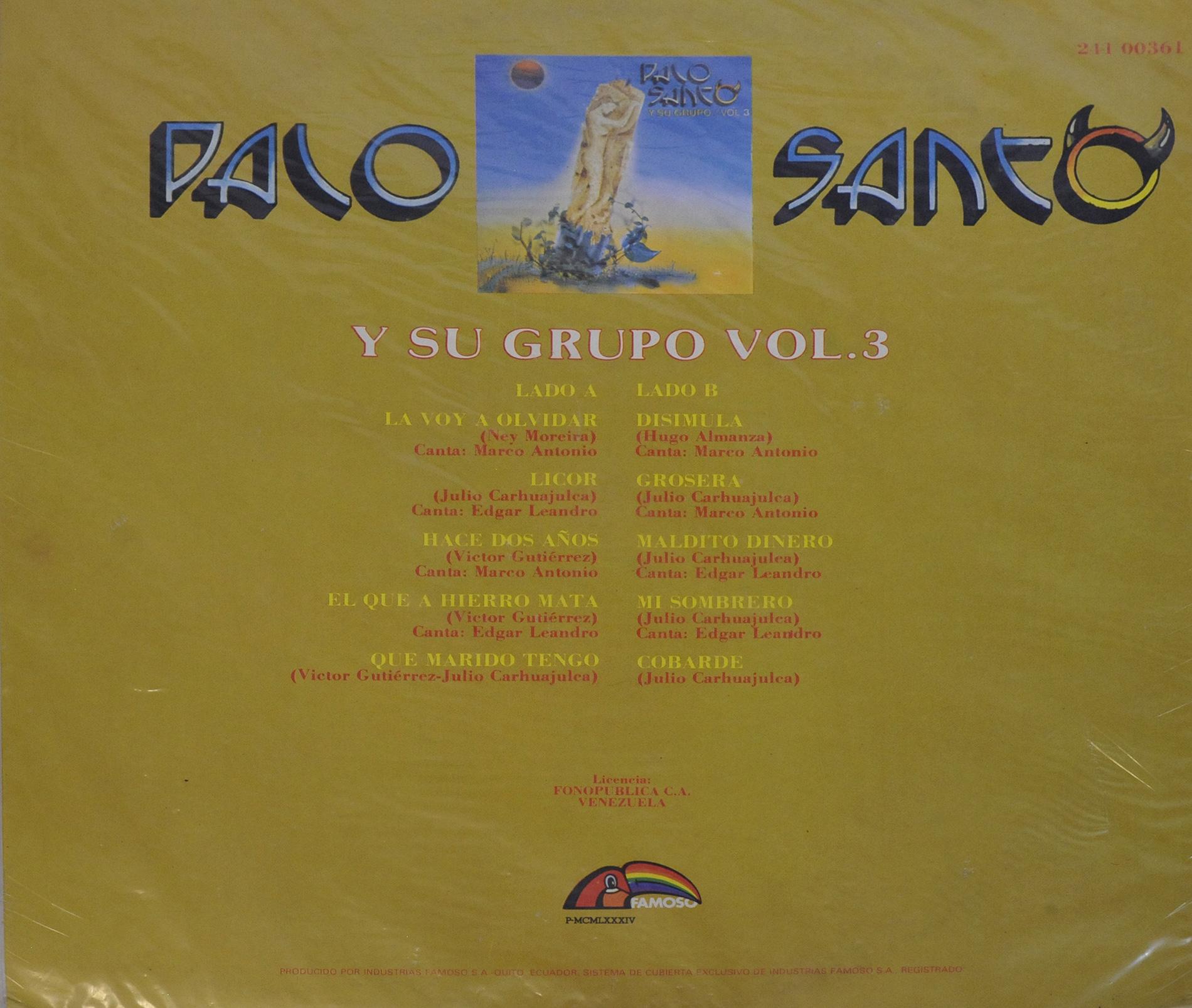 Palo Santo y su Grupo Vol 3