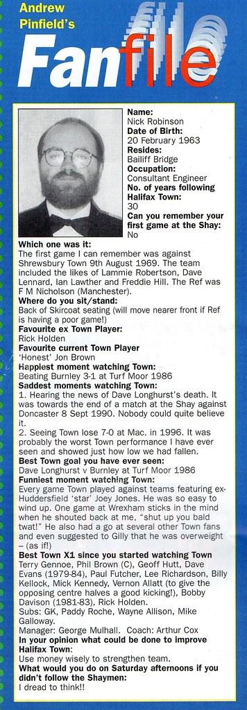 (Programme) 01-05-1999 Halifax Town 1-2 Scarborough 12