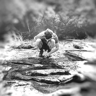 He used to spend hours playing in rock pools when he was a wee wee man! #bigweeman #trailwalk #lovemyboy @thenoddingacquaintance #wairerefalls | by easegill