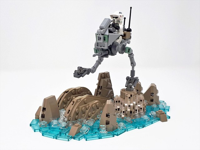 AT-RT nimbly navigated across the floor of a sinkhole on Utapau | The Brothers Brick