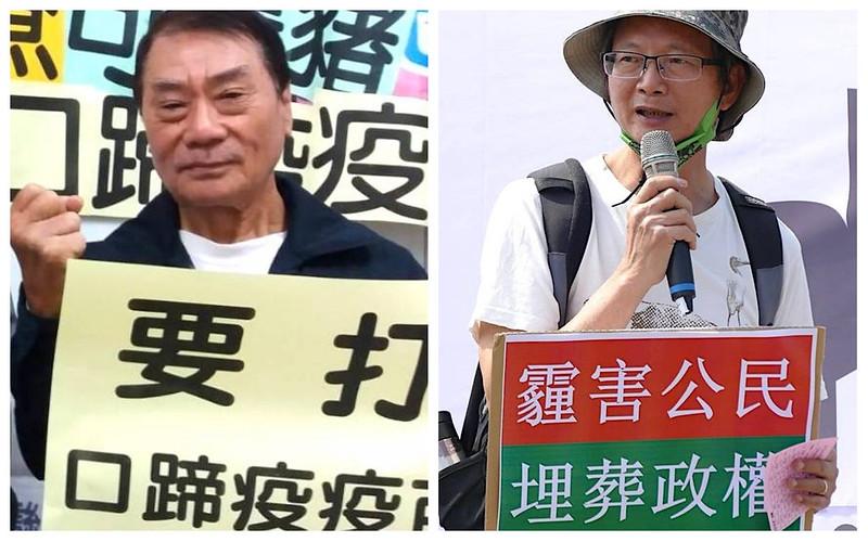 台南市環保聯盟理事黃安調(左)、綠農的家創辦人洪輝祥