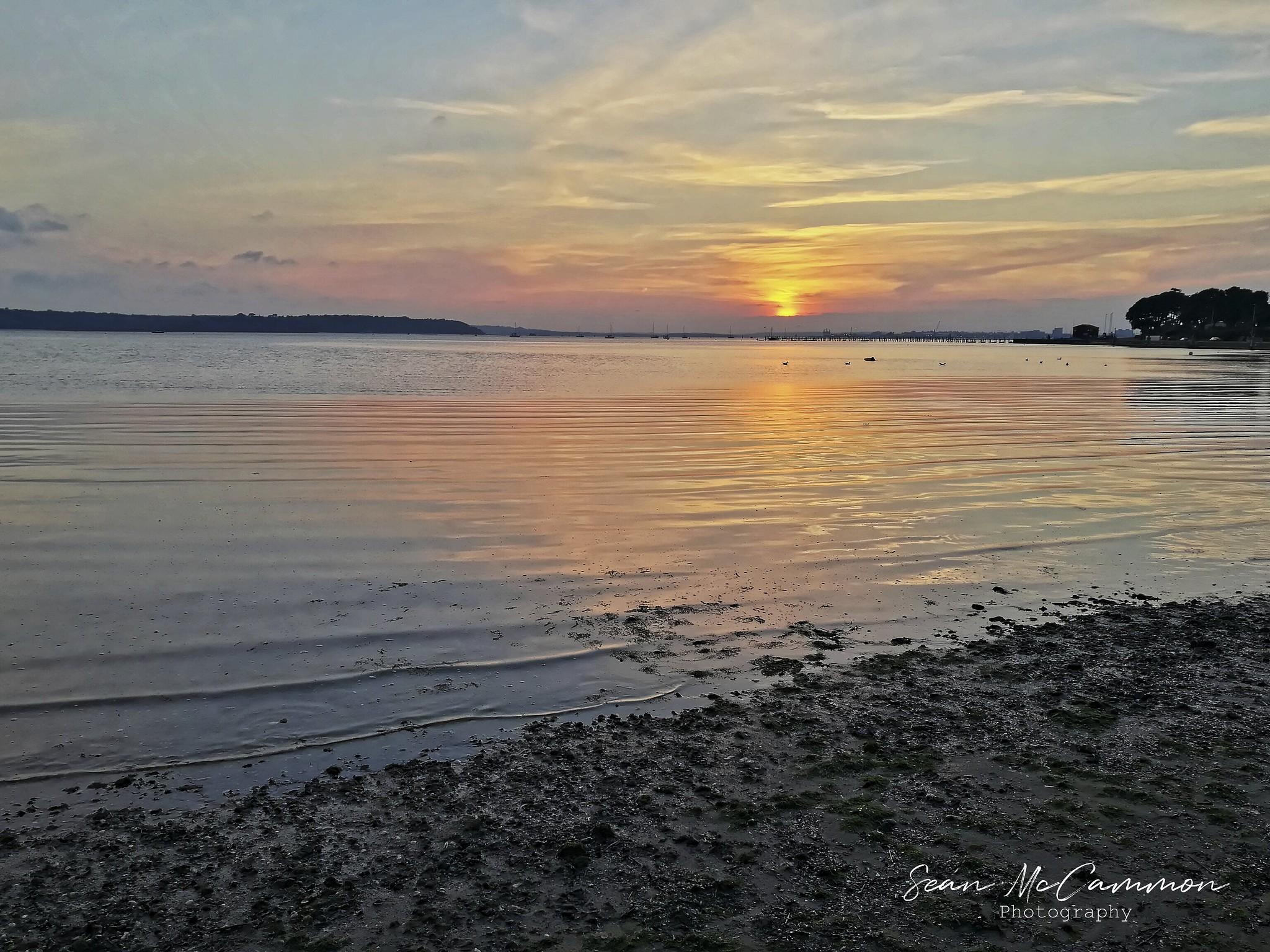 Sandbanks Sunset By Phone