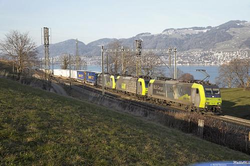Re 485 008 + Re 485 010 + Re 485 006 BLS Cargo . Kumm . 25.01.19.