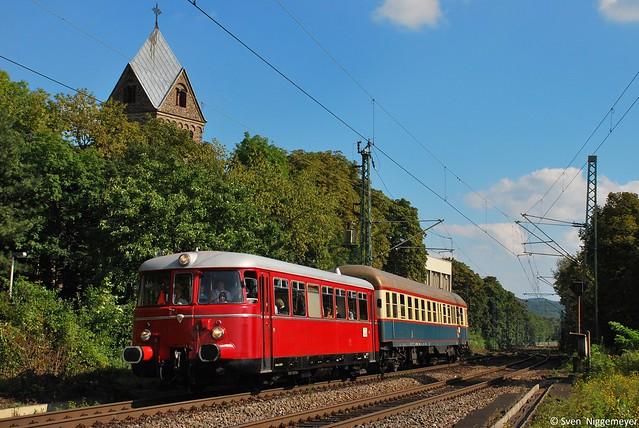 RSE-Schienenbus auf Sonderfahrt am 4.09.10 in Bonn-Oberkassel
