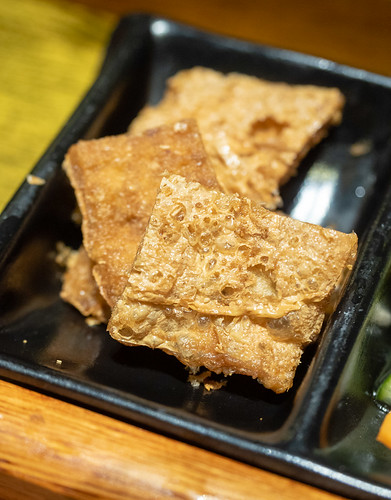 Yummy side dish, the fried fuchuk at House of Pok (小猪猪) Jaya One | by huislaw