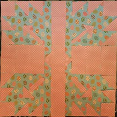 Inspired by the Maple Leaf quilt design of the 1930's as seen on KatyTrailCrations.com. I made it with paper instead, and of course I can never follow instructions :) #AtoZChallenge