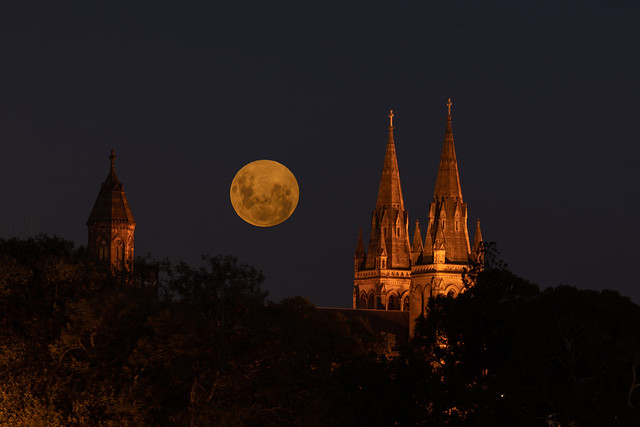 Full moon of St Peter's Cathedral