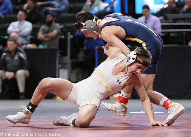 113AA 1st Place Match - Joey Thompson (Totino-Grace) 51-2 won by decision over Maxwell Petersen (Byron) 32-1 (Dec 10-5) - 190302BMC4103
