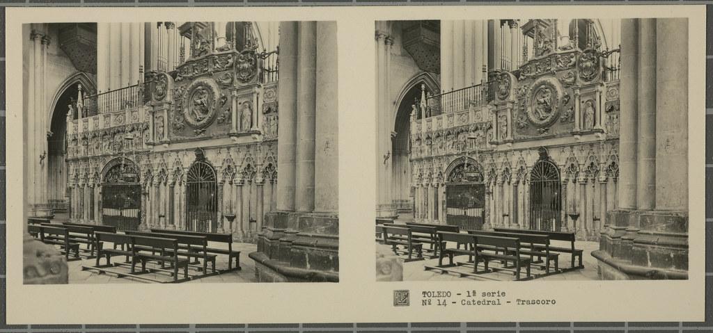 Trascoro de la Catedral. Colección de fotografía estereoscópica Rellev © Ajuntament de Girona / Col·lecció Museu del Cinema - Tomàs Mallol