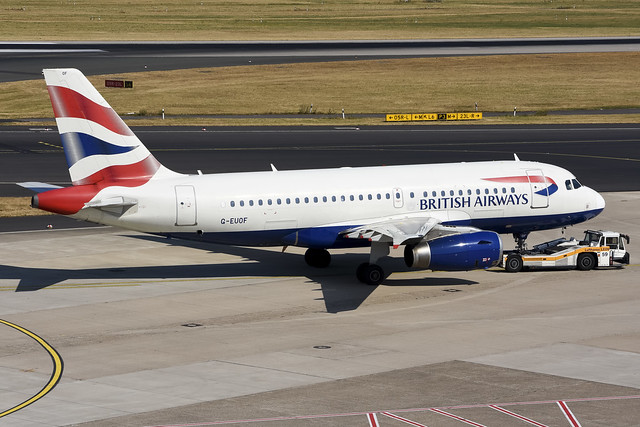 British Airways A319-131 G-EUOF