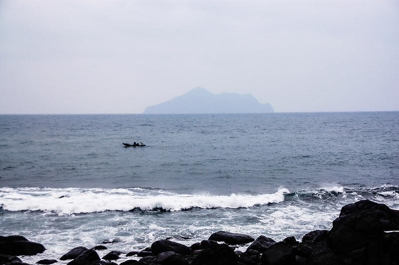 北關海潮公園東眺龜山島