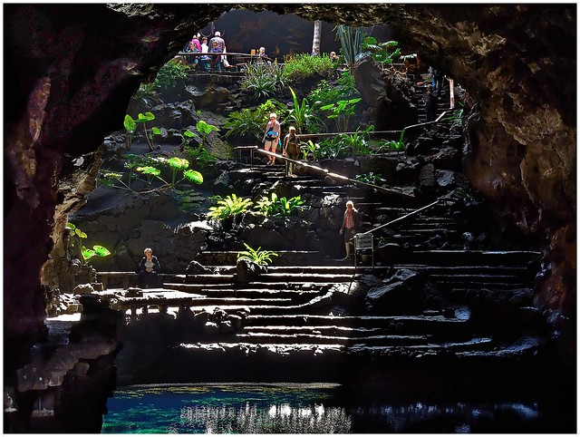 Backlight in Los Jameos del Agua