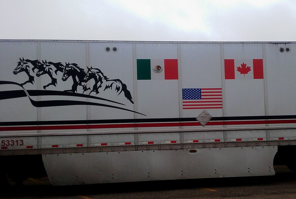 Globalization & trade: the irony of a truck celebrating NAFTA in the heart of Trumpland