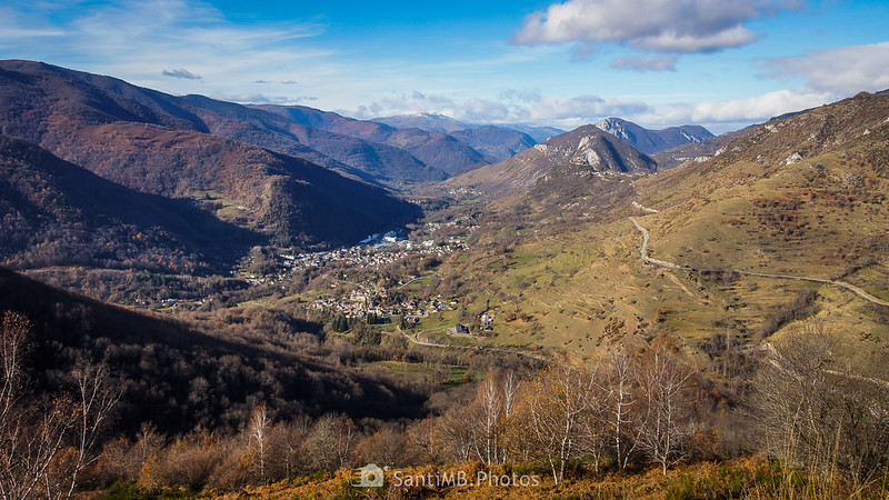 El valle del Alto Ariège desde el Mirador de Unac en la Route des Corniches