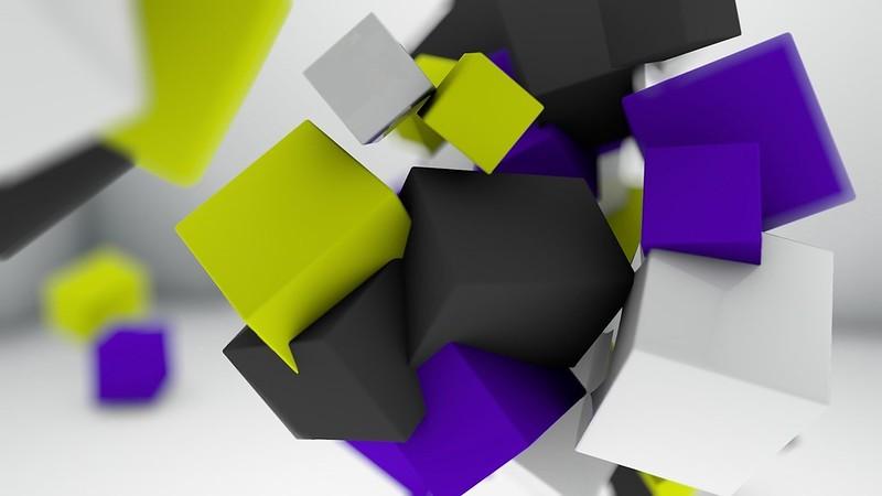 Обои куб, кубики, свет, яркий, окраска, множество картинки на рабочий стол, фото скачать бесплатно