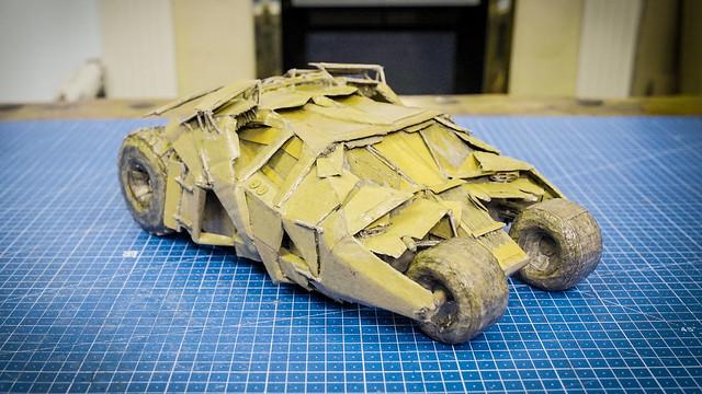 Batmobile out of cardboard
