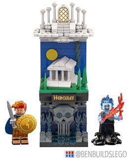 "Disney's ""Hercules"" Lego (Vertical) Skyline   by dayman1776"