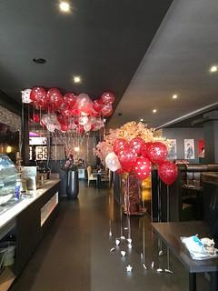 Heliumballonnen Valentijnsdag Goya Sushi Hoogvliet | by Globos Ballonnen