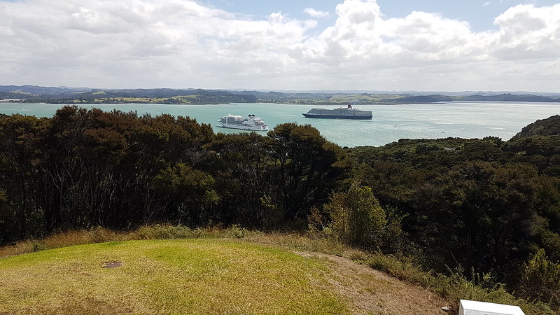 View towards Waitangi from Flagstaff Hill