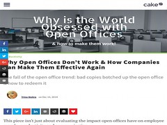Why Open Offices Do not Work and How Companies Can Make Them Effective Again