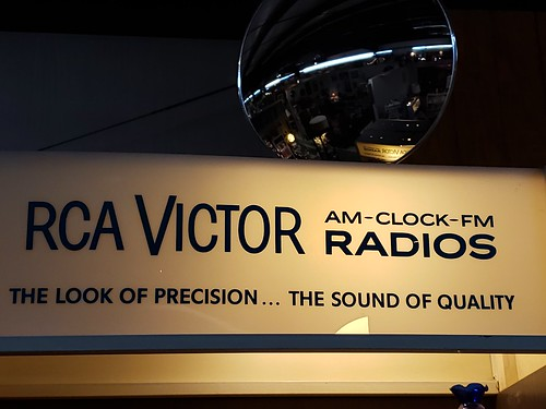 rcavictor radios clockradio sign antique flatwoodswv signsonglass
