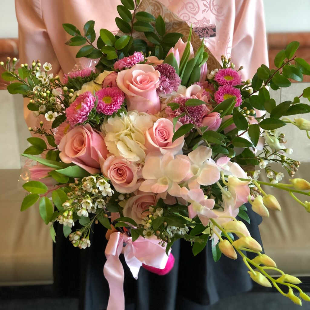 Bold Blossoms Custom Galentine's Bouquet