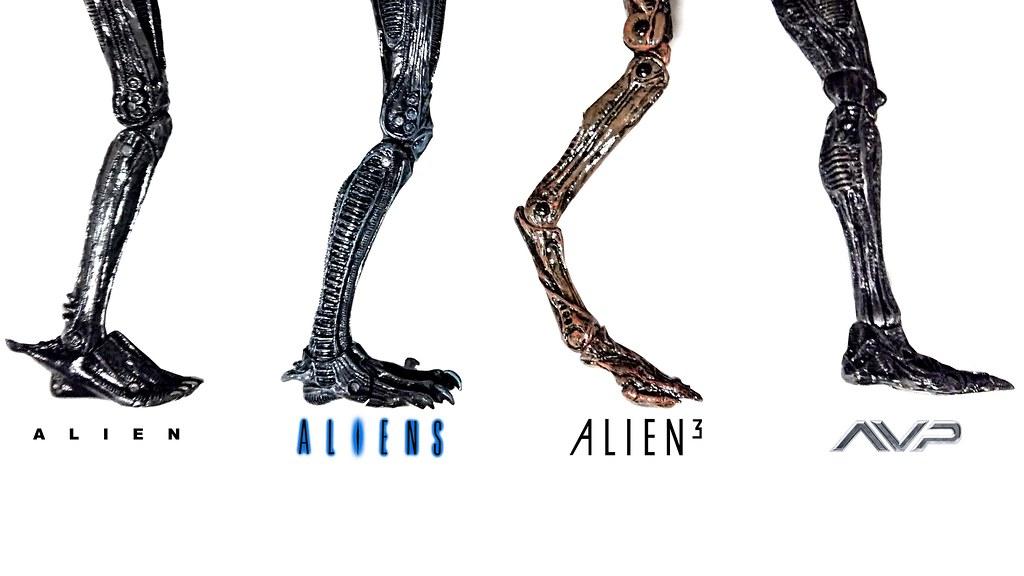 Alien Xenomorph Evolution Comparison 1979 Big Chap Perfect