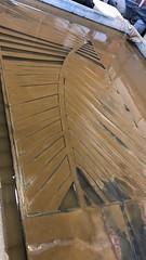 Palm Leaf Water Jet Door Panel