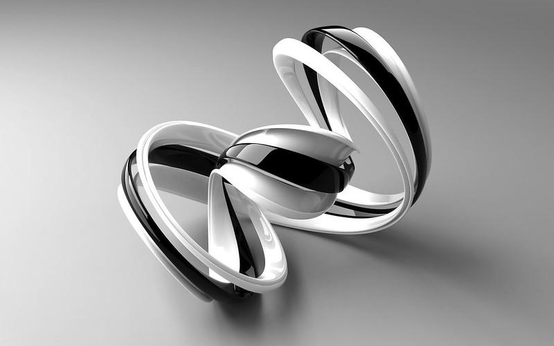 Обои спираль, полоска, изогнутый, фигура, черный, белый картинки на рабочий стол, фото скачать бесплатно