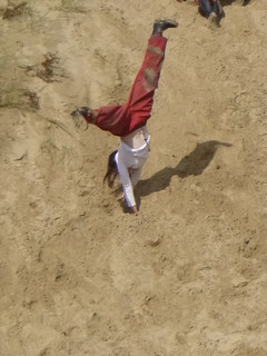 Cartwheeling down a sand dune key stage 2 residential school trip | by plasgwynant