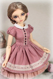 Gentle Pink adorable spring dress   by Sewing Fairy