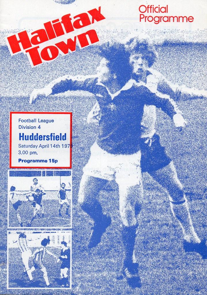 (Programme) 14-04-1979 Halifax Town 2-3 Huddersfield Town 1