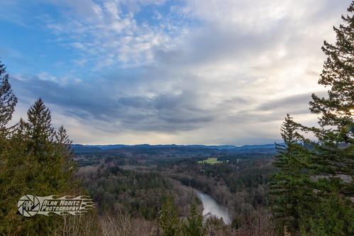 clouds jonsrudviewpoint mthood oregon sandyriver sky trees sandy unitedstates us