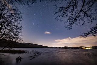 Winternacht am Laacher See