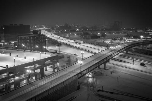dubuque iowa blackandwhite monochrome snow winter highway leica leicax2