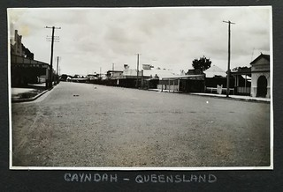 Street in Gayndah, Qld - 1937