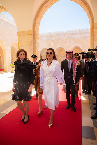 Receiving Italian President and First Lady | by queenrania