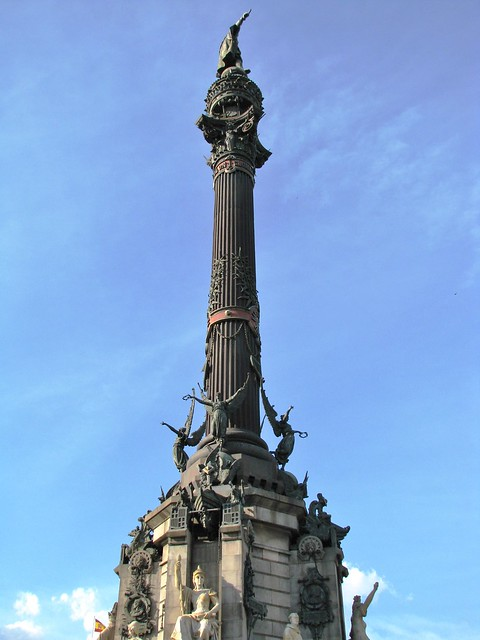 Mirador de Colón, Columbus Monument, Barcelona, Spain