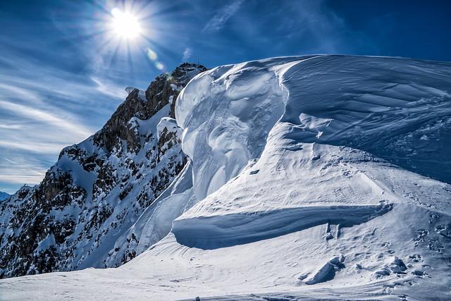 Schneewächte am Großstein