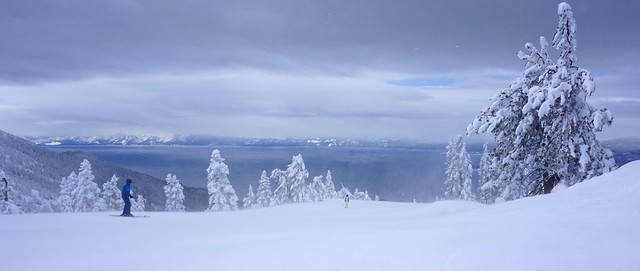 Skiing in Paradise