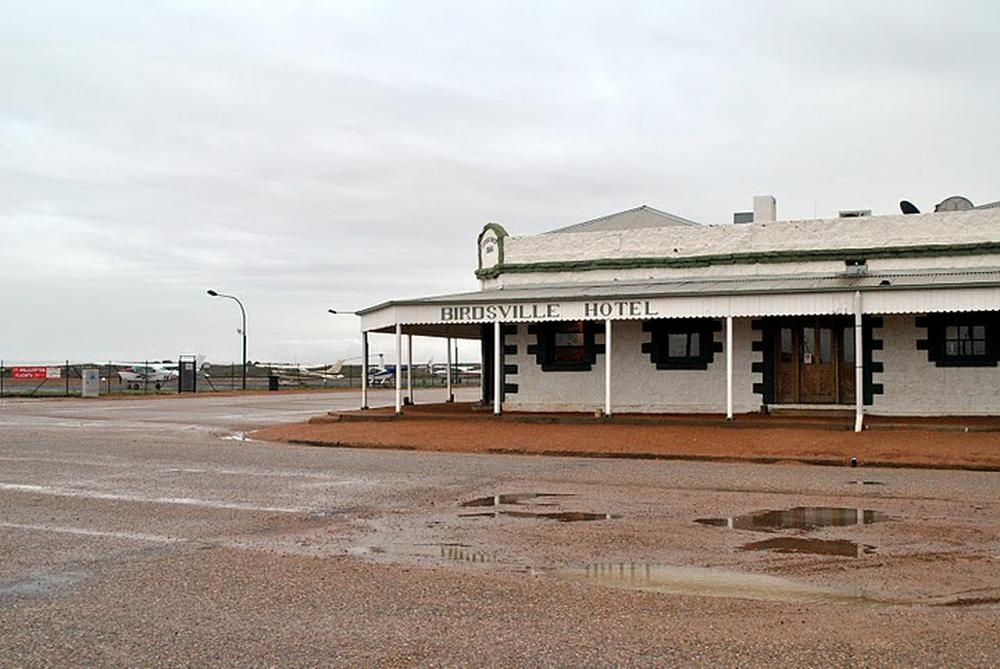 Birdsville Hotel during flooding in 2010