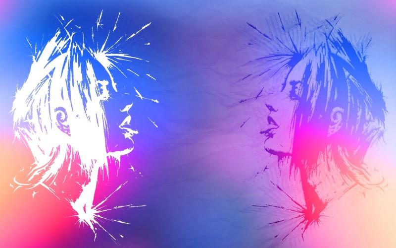 Обои пара, яркий, краска картинки на рабочий стол, фото скачать бесплатно