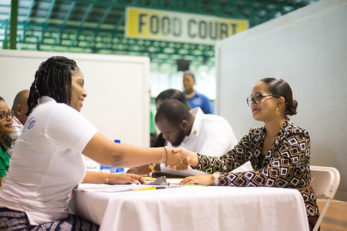 Youths at the job fair. | by DPI Guyana