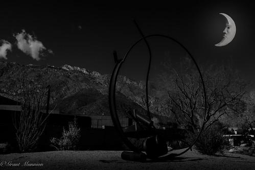20190222palmsprings photoshopcc palmsprings moon california fujifilm fuji x100f blackandwhite acros redfilter mountains week82019 startingtuesdayfebruary192019 52weeksthe2019edition week8theme lowkey