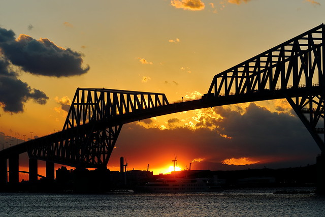 Tokyo Gate Bridge at Sunset