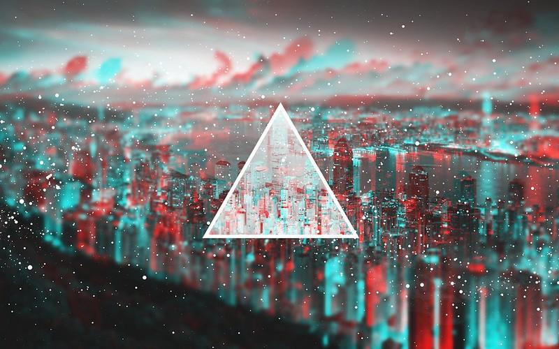 Обои треугольник, свет, пелена картинки на рабочий стол, фото скачать бесплатно