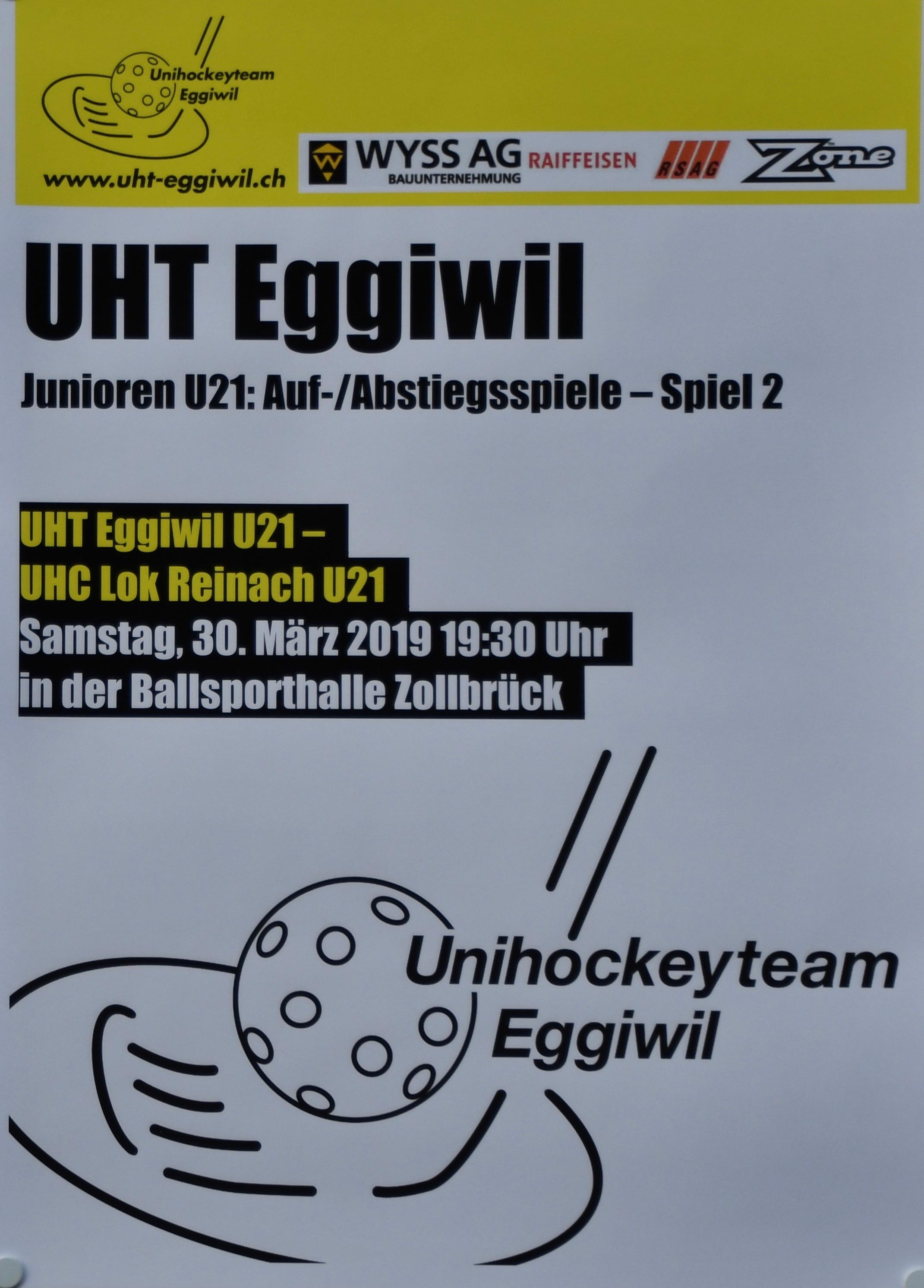U21 - UHC Lok Reinach, Auf-/Abstiegspiele, Spiel 2, 1 Drittel, Saison 28/19