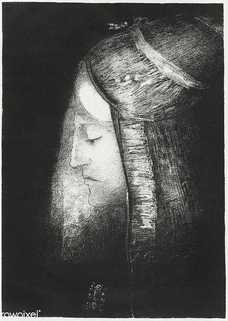 Profile of Light by Odilon Redon